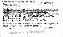 Ecclesia metropolitana Pragensis catalogus collectionis operum artis musicae                         (Pars 1)