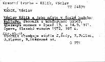 Václav Kálik a jeho místo v české hudební