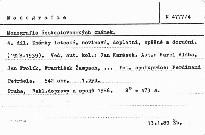 Monografie československých známek