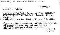 Valentine Bakfark