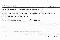 Přírodní vědy v socialistickém Československu