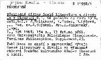 Přehledné dějiny české literatury a divadla