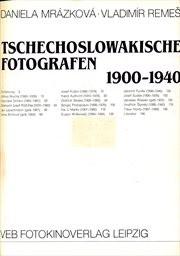Tschechoslowakische Fotografen 1900-1940