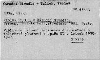 Václav Talich a Národní divadlo