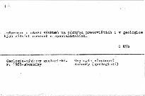 Zprávy o geologických výzkumech v roce 1985