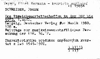 Das Streichquartettschaffen in der DDR