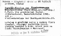 Porträt-Katalog des Theatermuseums München