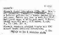 Slovník české literatury 1970-1981