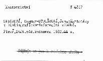 Kartoteky v bibliograficko-informacni sl