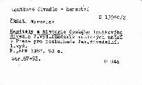 Kapitoly z historie českého loutkového divadla                         ([Díl] 2)