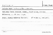 Ročenka Státní knihovny ČSR 1979-1980