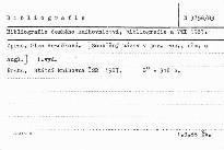 Bibliografie českého knihovnictvi, bibli; Bibliografie českého knihovnictví, bibliografie a VTI 1983