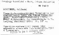 Thematisch-systematisches Verzeichnis der musikalischen Werke von Johann Sebastian Bach