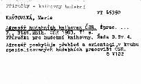 Adresář hudebních knihoven ČSR