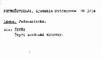 Čtyři sovětské aktovky