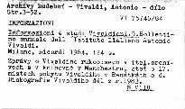 Informazioni e studi vivaldiani. 5.