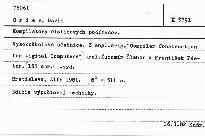 Kompilatory cislicovych pocitacov.