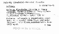 Ročenka Národního divadla v Praze 1984-