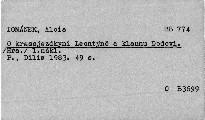 O krasojezdkyni Leontýně a klaunu Dodovi