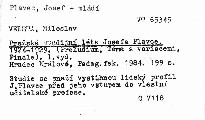 Pražská studijní léta Josefa Plavce