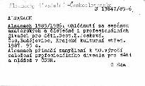 Almanach 1985/1986
