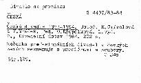 Česká divadla 1983-1984