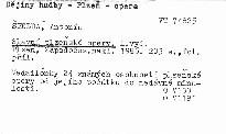 Slavní Plzeňské opery