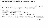 Bela Bartok-pedagog