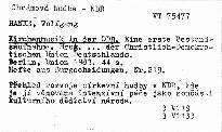 Kirchenmusik in der DDR