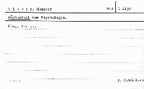 Wörterbuch der Psychologie; Wörterbuch der Psychologie