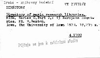 Directory of Music Research Libraries