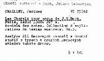 Les chorals pour orgue de J. S. Bach