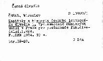 Kapitoly z historie českého loutkového divadla                         ([Díl] 1)