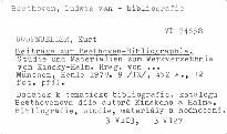 Beitrage zur Beethoven-Bibliographie