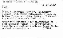Česká filharmonie 1986/87