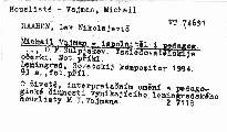 Michail Vajman - ispolnitěl i pedagog