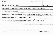 Problemes de la stylistique comparée française-tcheque et tchéque-française