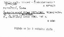 Československé filmy 1977-1980