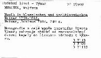Musik im klassischen und nachklassischen Weimar 1756-1861