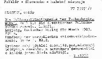 Die Volksmusikinstrumente der Tschechoslowakei