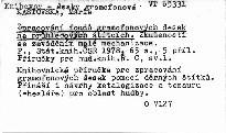 Zpracování fondu gramofónových desek na