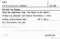 Die Spur des Tigers