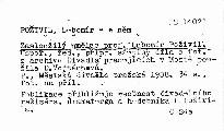 Zasloužilý umělec prof. Lubomír Poživil