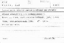 Vzorový seznam učebních pomůcek a zařízení