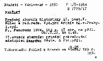 Pražský sborník historický 17 /