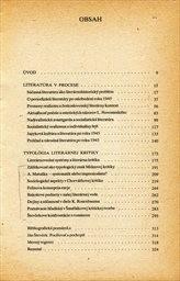 Tvorba a kritika (v súčasnej literatúre)