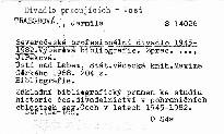 Severočeské profesionální divadlo 1945-
