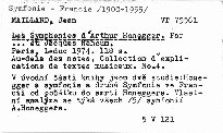 Les Symphonies d'Arthur Honegger