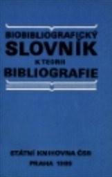 Biobibliografický slovník k teorii bibliografie