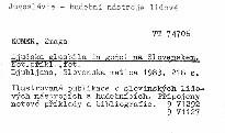 Ljudska glasbila in godci na slovenskem.
